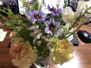 ハナノヒでもらったお花たち